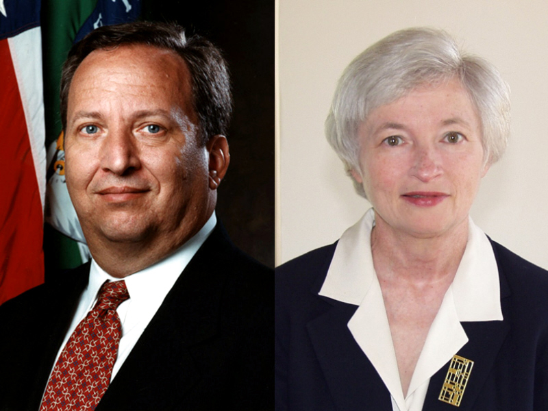 Larry Summers and Janet Yellen