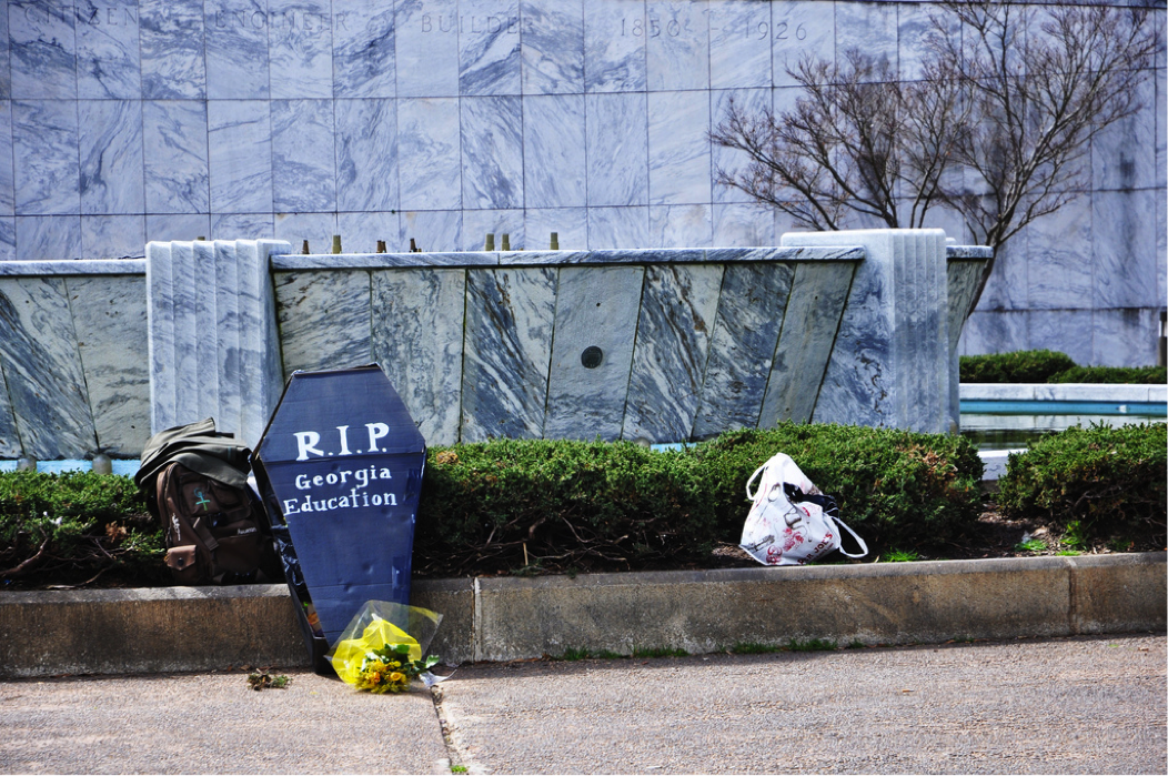 "Remnants of the ""Rally for Education"" held at the Georgia capitol in 2010. (Photo credit: C. Elle, flickr)"