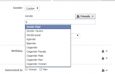 "Facebook, a long-time vocal supporter of LGBTQ rights, recently made custom gender options available for its users, a move it hopes will help create ""a more understanding and tolerant world."" Credit: Facebook"