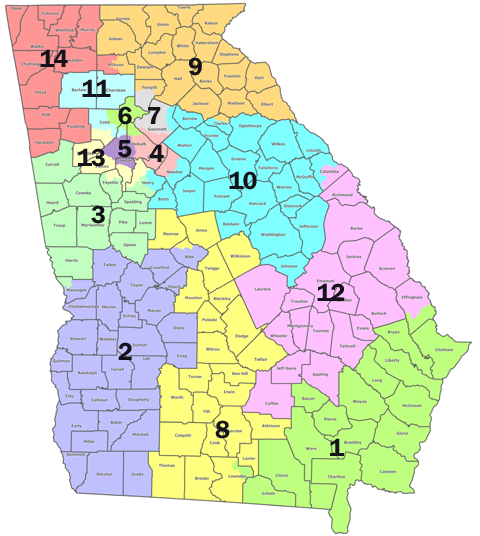 Map Of Georgia Congressional Districts 2014.The Most Conservative District East Of The Mississippi