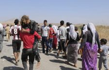 Displaced Yazidis, persecuted by ISIS, flee their homes.