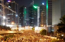 Protesters gathered at Harcourt Road on Sept. 29, eventually leading to 89 arrests.