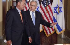 House Speaker John Boehner walks with Israeli Prime Minister Binyamin Netanyahu in 2011. (Source: AP)