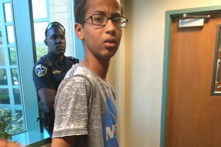 Ahmed Mohammed was arrested at MacArthur High School in Irving, TX, on September 14th for bringing a homemade clock to school. (Anil Dash)