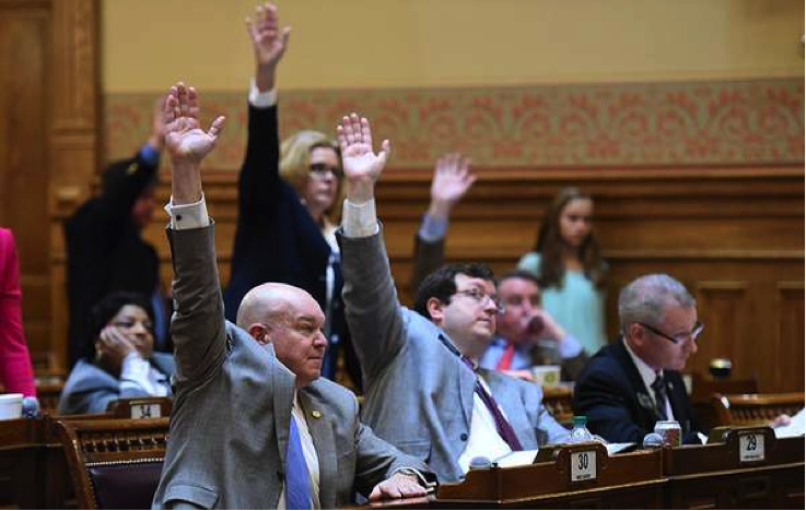 (Photo Credit: Atlanta Journal Constitution) Here, the Senate is shown passing HB 859 on March 11