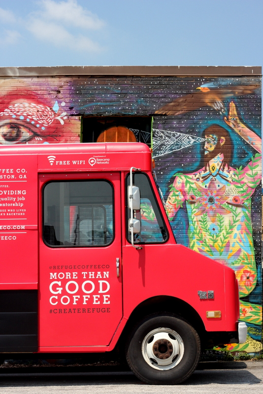 Refuge Coffee Co. is a catering company and food truck operated by refugees from Clarkston, GA. (Refugee Coffee Co.)