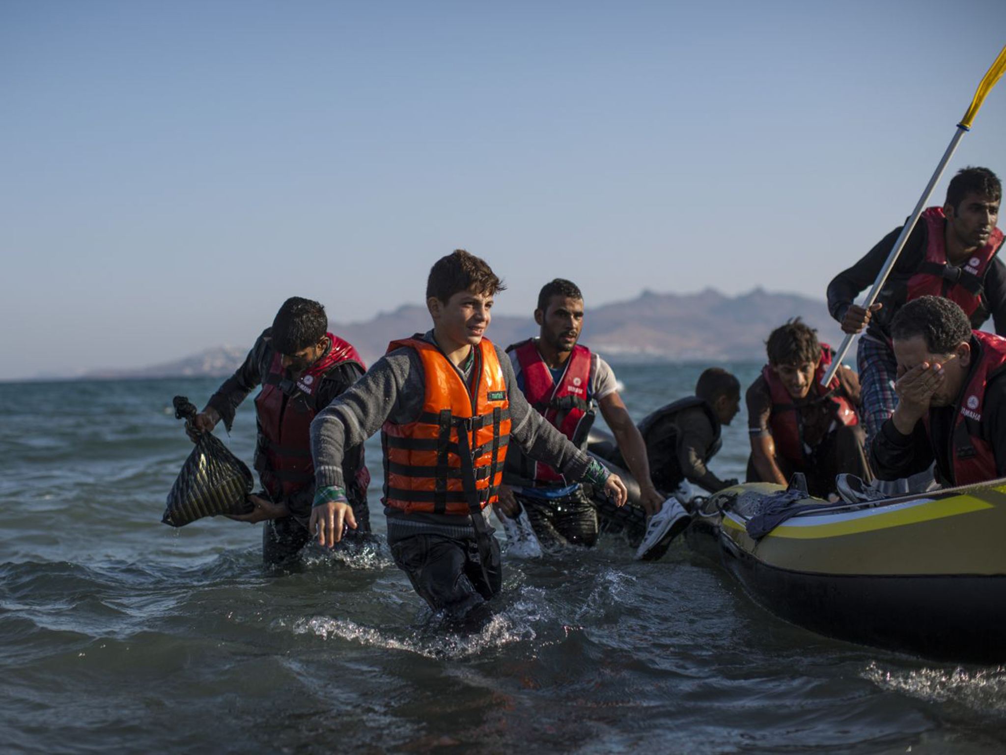 Refugees arrive on the shores of Kos, Greece. Source: The Independent